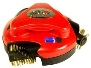 Red Grillbot Automatic Grill Cleaning Robot. Never clean your barbecue grill again and more time to sit back and enjoy!