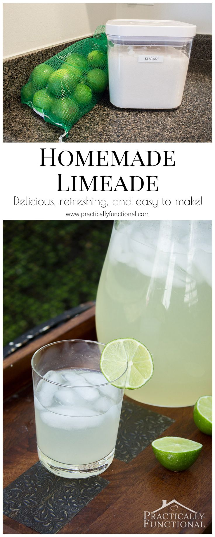This homemade limeade recipe is delicious, refreshing, and so easy to make!
