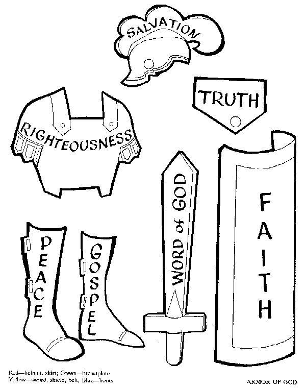 *-Armor of God Lesson by Bori O'Mel - templates could be used for quiet book =神の武具=(エペソ人への手紙) 6:14腰には真理の帯を締め、胸には正義の胸当てを着け、6:15足には平和の福音の備えをはきなさい。6:16 これらすべてのものの上に、信仰の大盾を取りなさい。それによって、悪い者が放つ火矢を、みな消すことができます。6:17 救いのかぶとをかぶり、また御霊の与える剣である、神のことばを受け取りなさい。