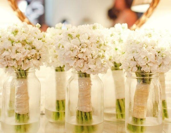 Bridesmaid bouquets: Baby's breath vs. single-stem hydrangea - Weddingbee