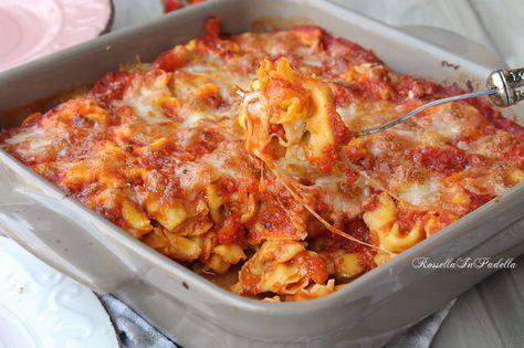 Tortellini al forno con pomodoro e mozzarella