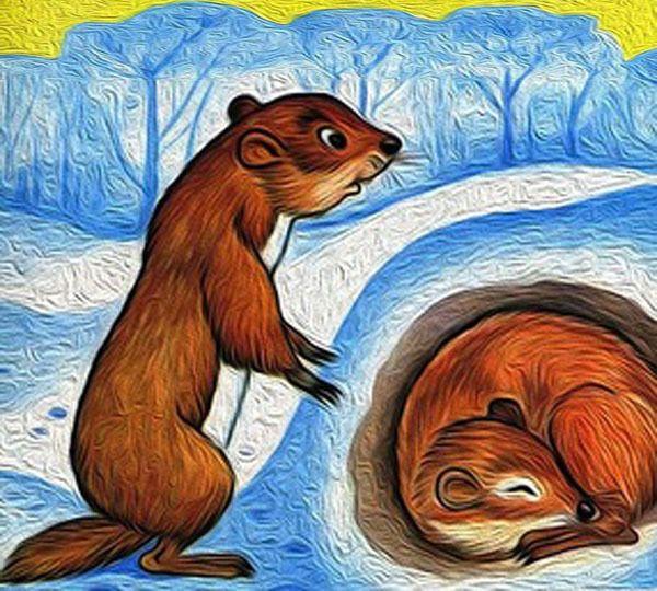 картинки животных которые на зиму в спячке антуража также