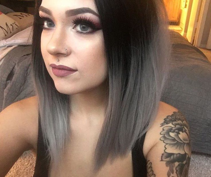 Thank you sooo much our sweet customer @pilling.mary  looks sooo stunning in this grey ombre hair who want to have a try? Wig sku: NS-004 #wig #fashion #evahair #lacefrontwig #ombre #black #grey