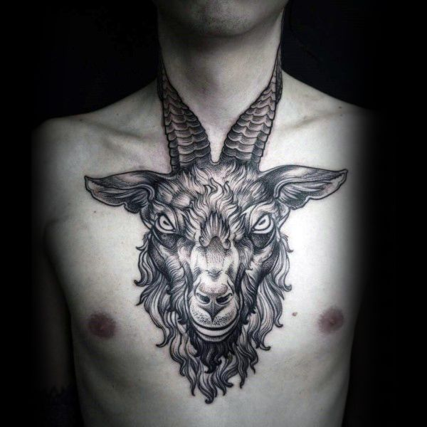 17 best ideas about ram tattoo on pinterest aries ram for Chest and neck tattoos