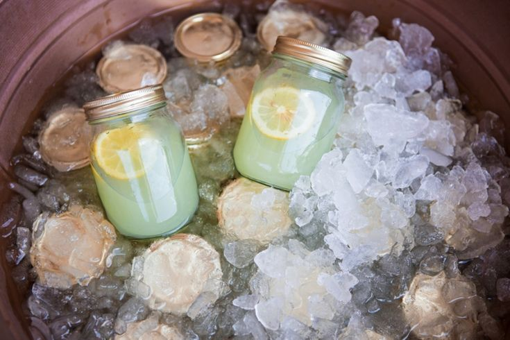 Circus Party Drinks in Mason Jar