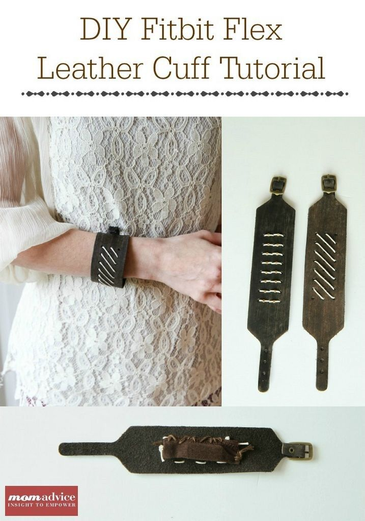 DIY Fitbit Bracelet Tutorial -- hate that plastic bracelet that came with your FitBit Flex? Make this adorable and stylish leather cuff bracelet for less than $10 AND in just 5 easy steps!