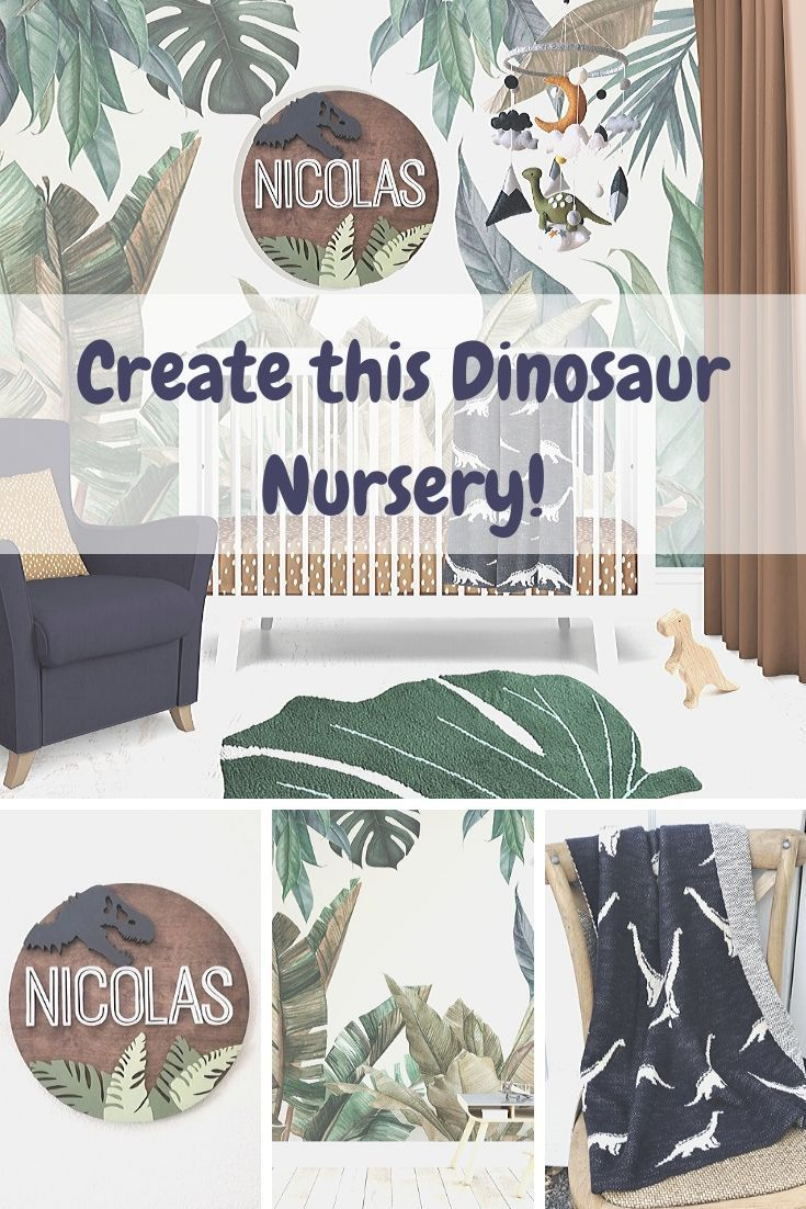 Boho Dinosaur Nursery In 2020 Dinosaur Nursery Custom Nursery Art Custom Nursery
