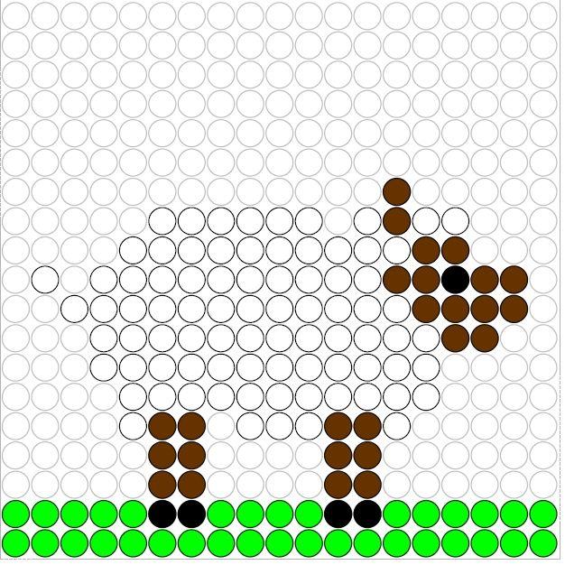 Sheep perler bead pattern