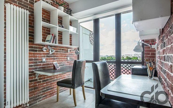 tuğla duvarlar ile küçük ofis dekorasyonu – DekorBlog