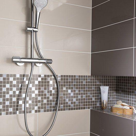 Les 25 meilleures id es concernant salle de bains taupe - Recouvrir faience salle de bain ...