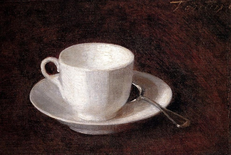 Henri Fantin-Latour | White Cup And Saucer, 1864