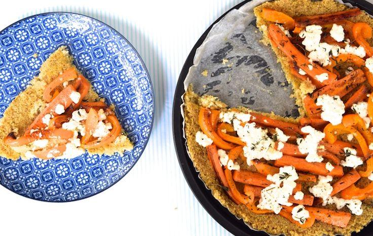 Skinny Six: Quinoapizza met oranje groenten #oranje #diner