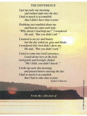 "Inspirational Poems | ... / Religious/Inspirational / E200 - ""The Difference"" poem bookplate"