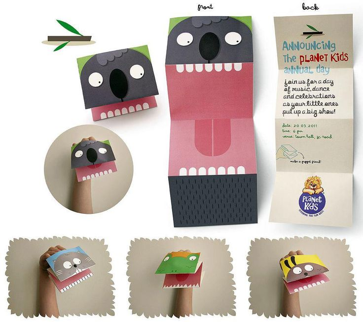 Cute pattern for storytime craft