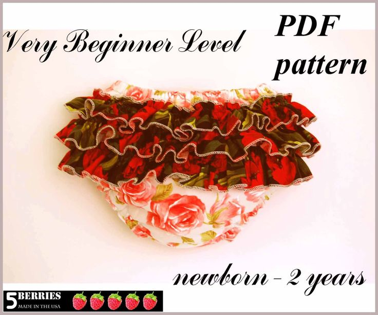 free felt patterns | Rose Ruffled Diaper Cover SEWING Pattern Baby Toddler Girls Infant