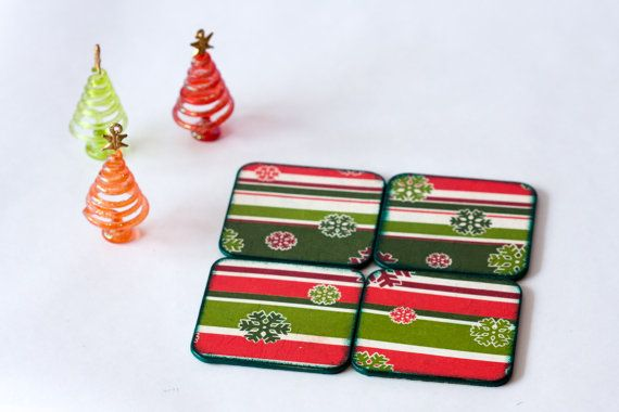 Christmas Coasters Winter Decor Tabletop Accessory by BeauMiracle,