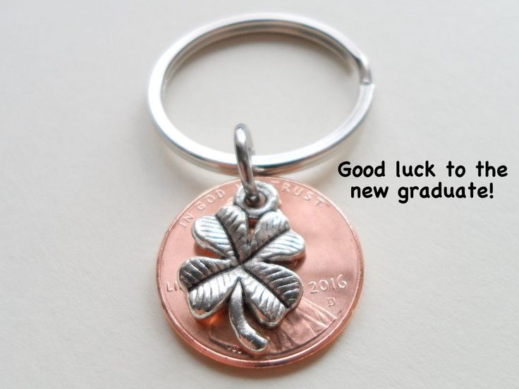 Cap And Diploma Charm Layered Over 2015 Penny Keychain - Good Luck To The New Graduate; Hand Made; Graduation Gift Модель - фото 6