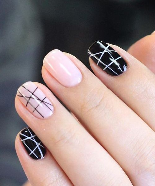 Incredible Geometric Nail Art Designs for Prom