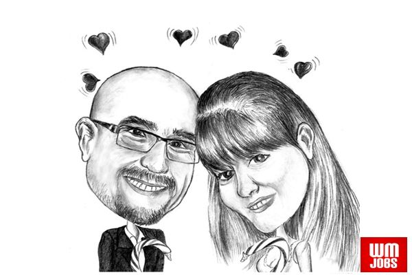 Fiverr Top Rated Seller: Romantic Caricature For Valentines Day - World Micro Jobs
