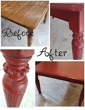 Lemonade: The Kitchen Table MakeOver: Kitchens, Dining Room, Painted Furniture, Coffee Table, Kitchen Tables, Painting Furniture, Kitchen Table Makeover, Red Table