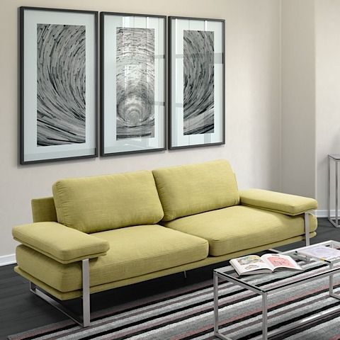 The Jonkoping Sofa Is Available In Lime Green, Sunkist Orange And Neutral  Wheat, With