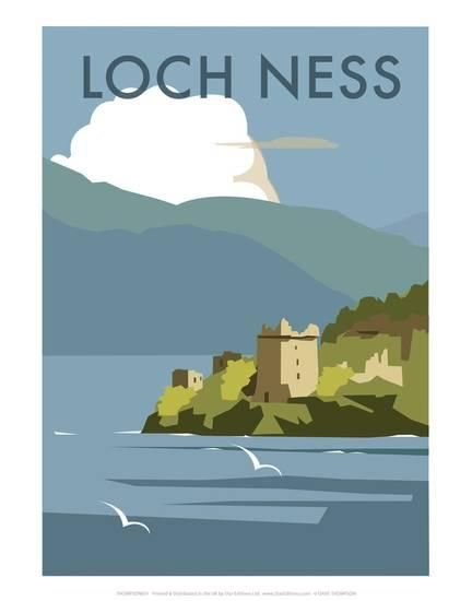 Loch Ness - Dave Thompson Contemporary Travel Print Posters by Dave Thompson at AllPosters.com