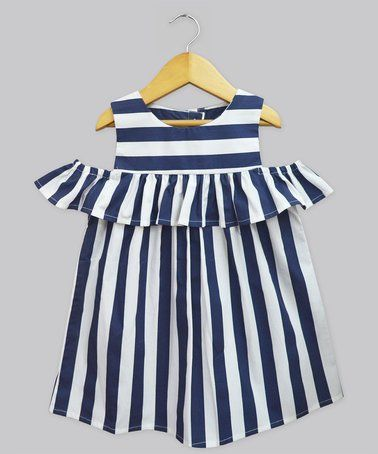 Love this Navy Stripe Lucy Dress on #zulily! #zulilyfinds