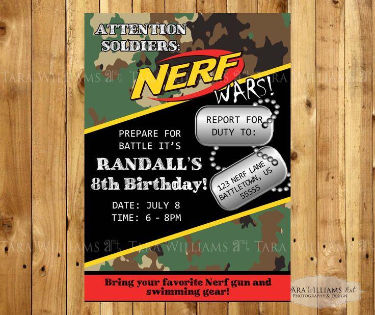 14 besten Nerf Party Bilder auf Pinterest Nerf Geburtstagsparty