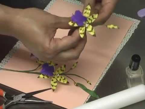Making a Gumpaste Lemboglossum Orchid by Petal Crafts - YouTube