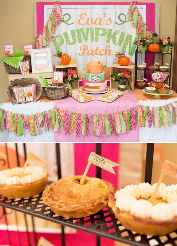 Adorable little pumpkin patch birthday party!