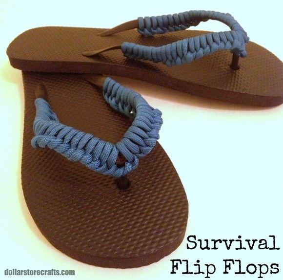 DIY Paracord Survival Flip Flops!