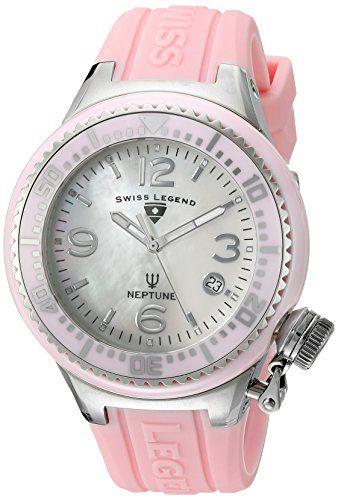 Swiss Legend Neptune Damen-Armbanduhr 44mm Armband Silikon Gehäuse Keramik Schweizer Quarz 11844-PKWSA - http://uhr.haus/swiss-legend/swiss-legend-neptune-damen-armbanduhr-44mm-quarz