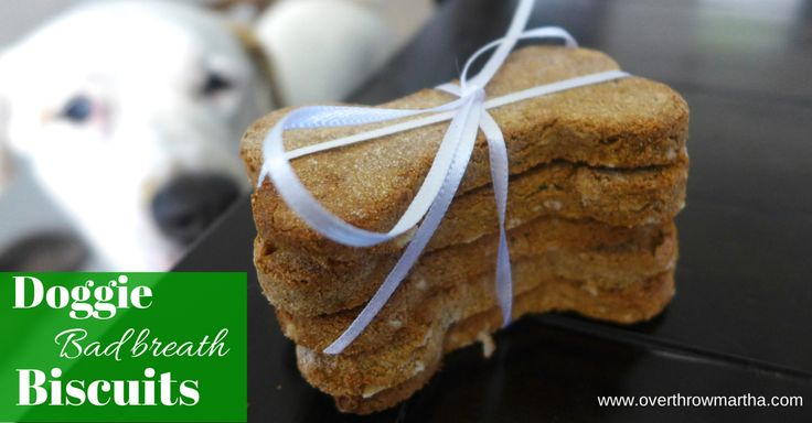 Bad Breath Busting Biscuit for your Dog (Grain Free)-Overthrow Martha