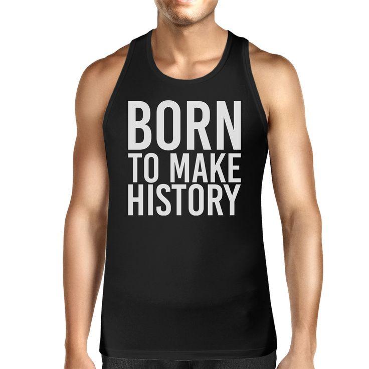 Born To Make history Mens Sleeveless Black Tank Top Yuri on Ice