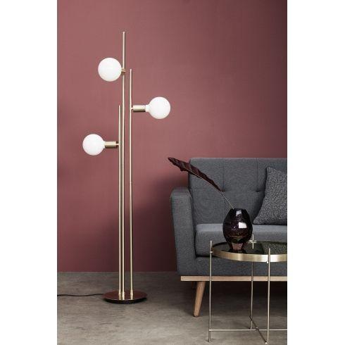 FLOOR LAMP W/BULB, LED,BRASS #hubsch #interiordesign #homedecor #interiors #nordic #scandinavian #danishdesign #lighting #floorlamp