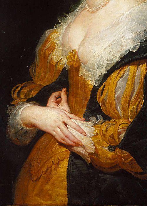 Portrait d'une femme, 1625-30 Peter Paul Rubens Détail