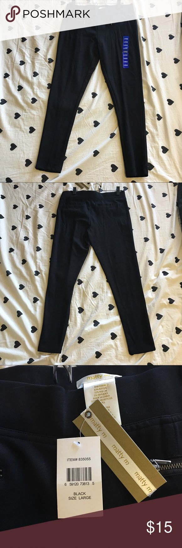 Leggings Matty M leggings. Brand new with tags! Cute zippers on front of pants. Thick legging material. Great for lounging, going out, or exercise! For reference these fit like a size 10 in Lululemon's, but are NOT Lululemon leggings. Matty M Pants Leggings