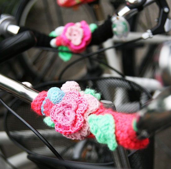 bike decoration- I wish I could do this!