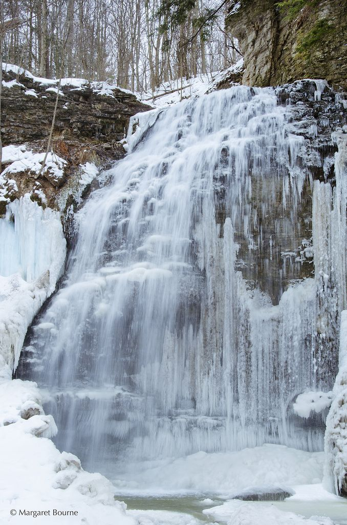 Winter at Tiffany Falls in Ancaster, Ontario