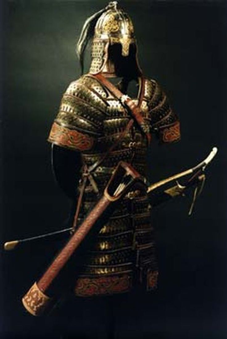 "Mongol Warrior Weapons | Mongol warriors wore armor, called ""huyag. During the wars of Russia ..."