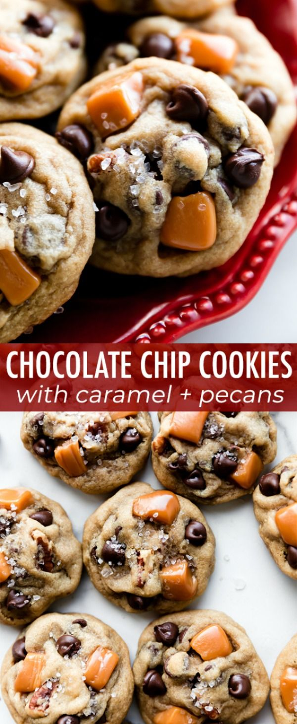 Deliciously Soft Salted Caramel Pecan Chocolate Chip Cookies