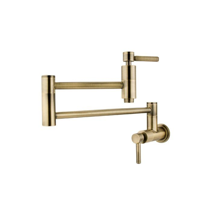This contemporary style south beach wall mount pot filler for elements of design is your kitchen's best complementary product. The length of this filler makes it easy to fill pots and wash pans without much labor in washing. The smooth cylindrical design is visually stunning and ensures a solution for any job around the kitchen sink. Made from solid brass for durability and reliability.