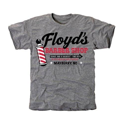 Barber Shop Logo >> Andy Griffith Show Floyds Barber Shop Tri-Blend T-Shirt - Ash (Small) Football Fanatics,http ...