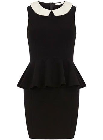 Black peplum dress  Dorothy Perkins