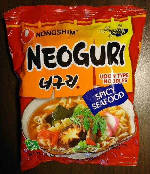 re-review: meet the manufacturer: nongshim neoguri spicy seafood udon type noodles