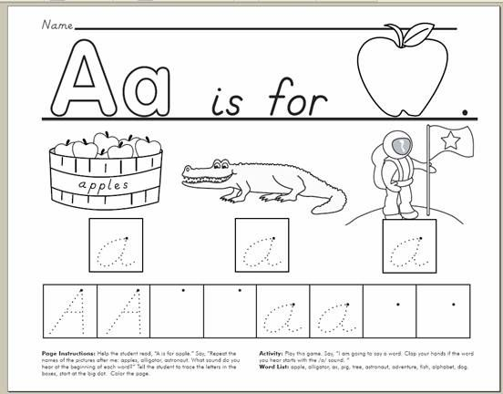 alphabet handwriting worksheets