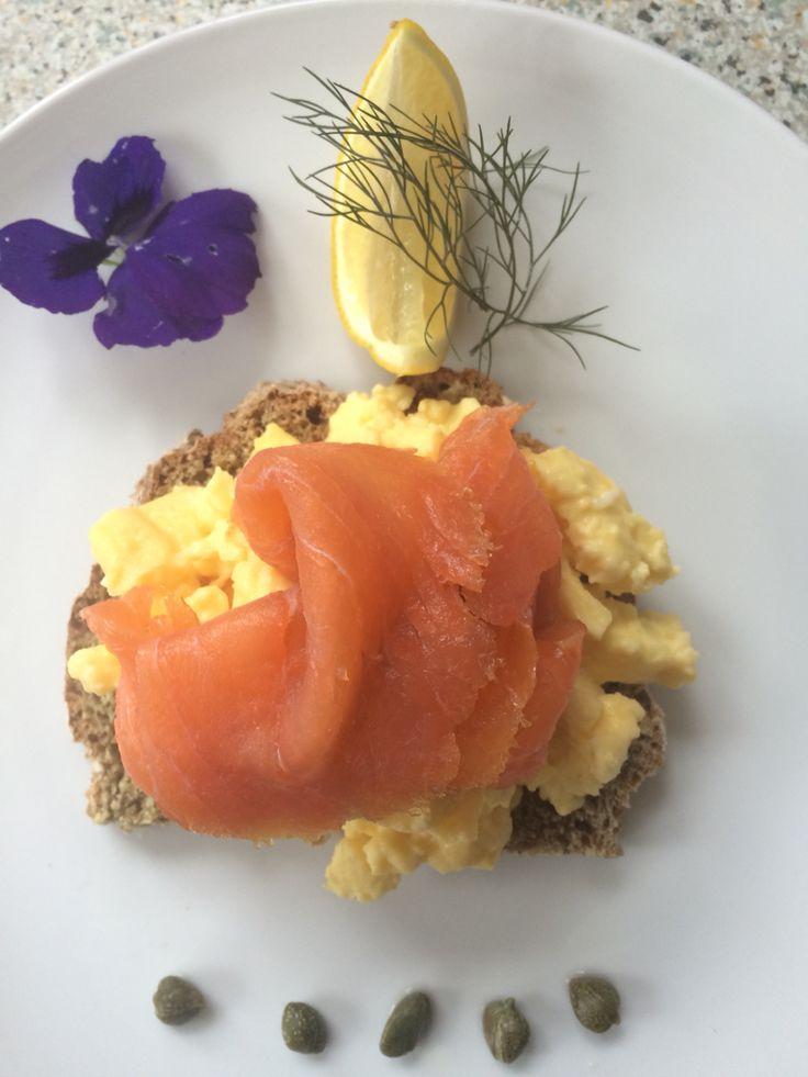 Scrambled Free range eggs & Burren Smoked Organic Salmon