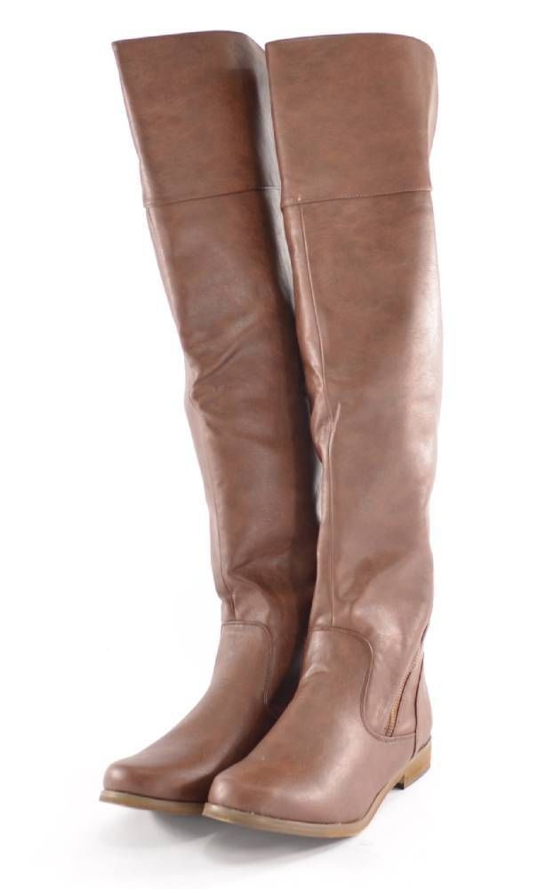 New New Womenu0026#39;s Riding Boots Motorcycle Shoes Brown Winter Snow Ladies Size 8 | EBay