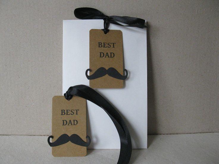 GESCHENKTÜTEN SET * 2 STÜCK * BEST DAD  * UNIKAT *
