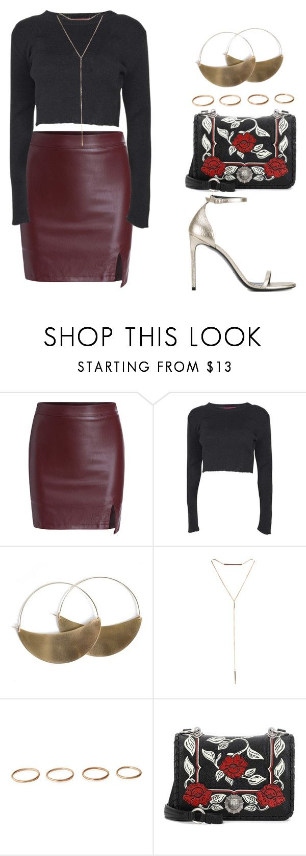 """""""unconsciously"""" by melanie-pacheco ❤ liked on Polyvore featuring Boohoo, Lila Rice, Miu Miu and Yves Saint Laurent"""